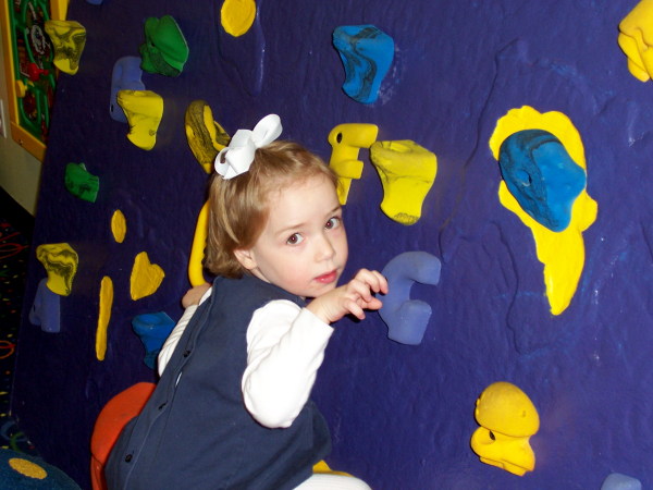 toddler fitness, daycare, climbing walls for kids